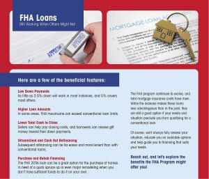 Benefits of the FHA loan program