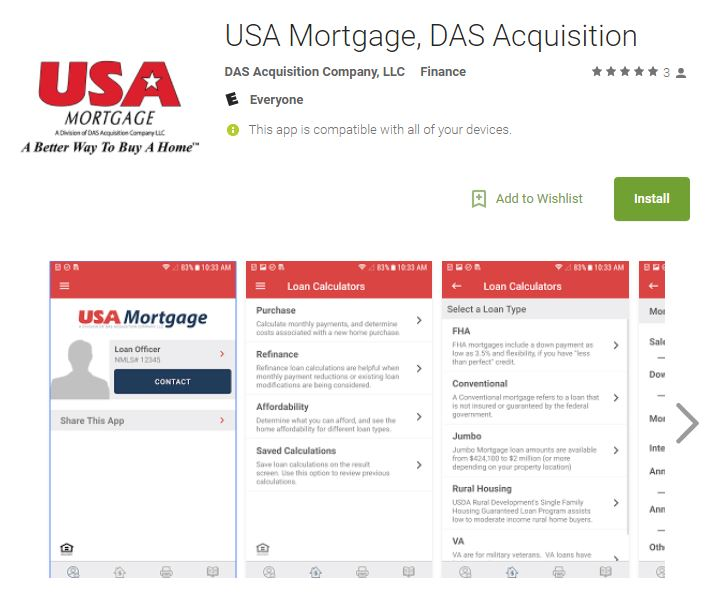 USA Mortgage app