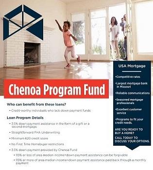 Chenoa Program flyer | USA Mortgage - Columbia, Missouri