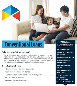 Conventional loan flyer for realtor