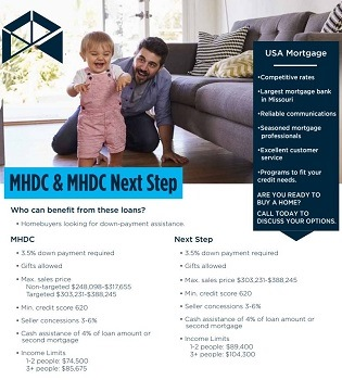 MHDC loan flyer for realtor