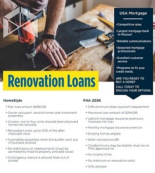 Renovation loan flyer for realtor