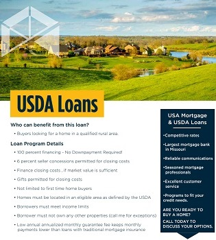 USDA loan flyer for realtor