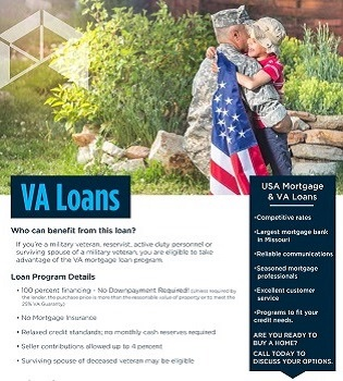 VA loan flyer for realtor